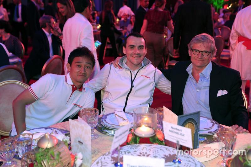 Ryo Michigami, Norbert Michelisz, Honda Racing Team JAS, Honda Civic WTCC; Alessandro Mariani, Honda