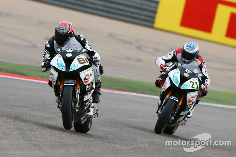 Jordi Torres, Althea BMW Racing; Markus Reiterberger, Althea BMW Racing