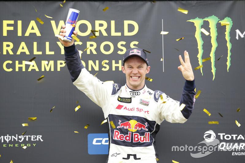 Podium: Winner Mattias Ekström, EKS, Audi S1 EKS RX Quattro