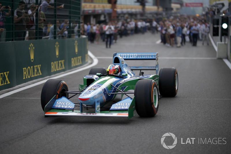 Mick Schumacher in the Benetton B194-5