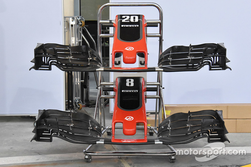 Haas F1 Team VF-17 front wing detail