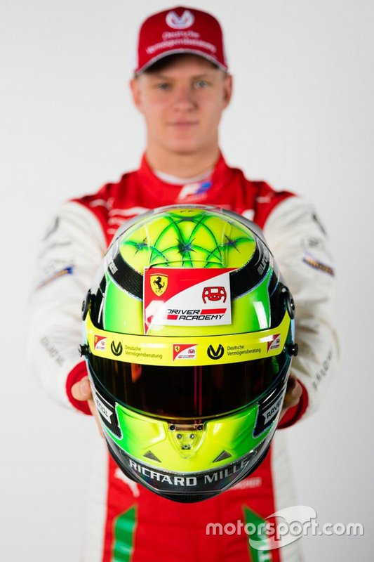 Le casque de Mick Schumacher, Prema Racing