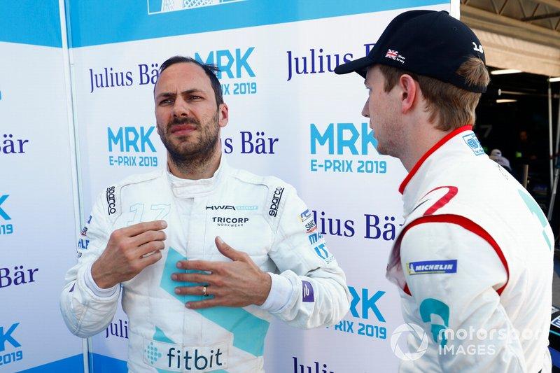 Gary Paffett, HWA Racelab, Oliver Turvey, NIO Formula E Team, after Qualifying