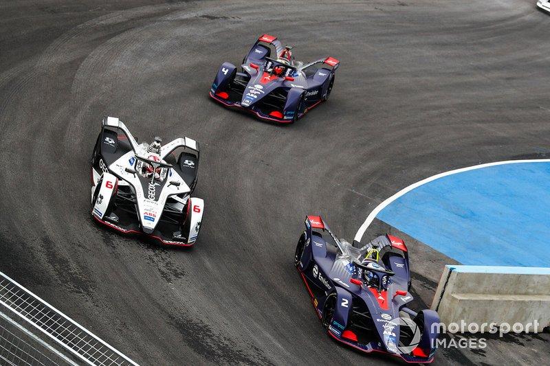 Sam Bird, Envision Virgin Racing, Audi e-tron FE05 Maximilian Gunther, Dragon Racing, Penske EV-3, Robin Frijns, Envision Virgin Racing, Audi e-tron FE05