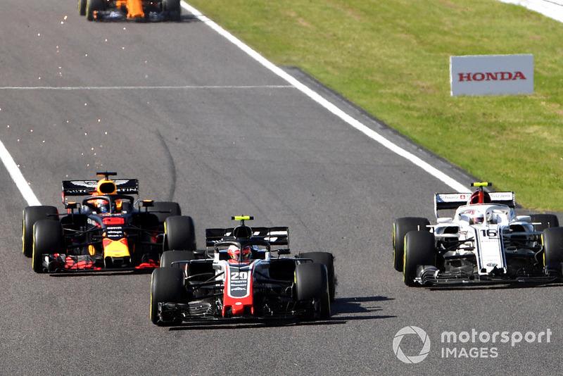 GP Jepang - Kevin Magnussen/Charles Leclerc (balapan)