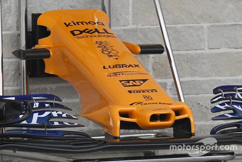 McLaren MCL33 ön kanat detayı