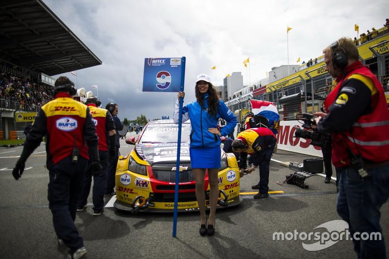 Gridgirl von Tom Coronel, Roal Motorsport, Chevrolet RML Cruze TC1