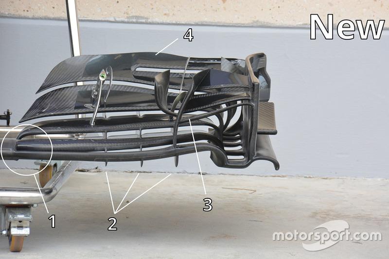 Frontflügel des McLaren MP4-31