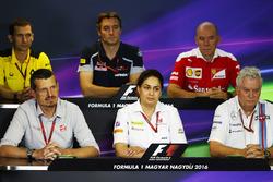 Press Conference: Remi Taffin, Renault Sport F1 Engine Technical Director, James Key, Scuderia Toro Rosso Technical Director, Jock Clear, Ferrari Engineering Director, Guenther Steiner, Haas F1 Team Principal, Monisha Kaltenborn, Sauber Team Principal. Pat Symonds, Williams Chief Technical Officer