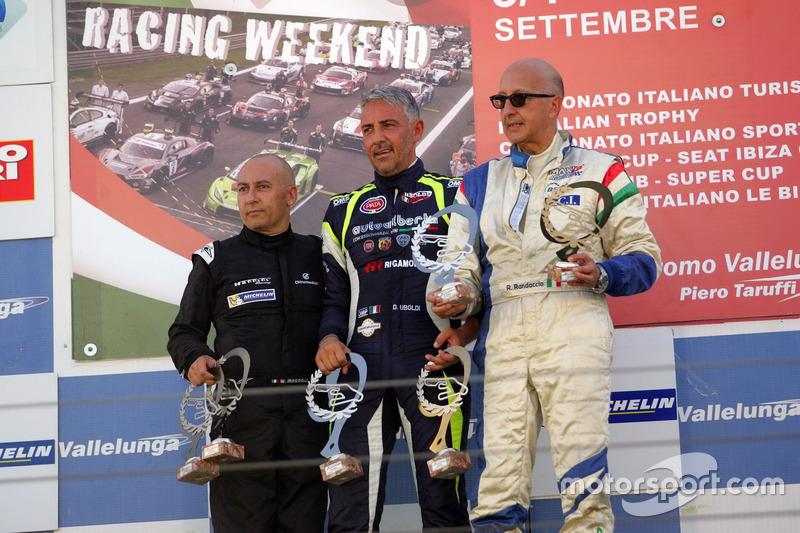 Podio Gara 1, Davide Uboldi (Eurointernational, Ligier JS Evo 2 E CN2 #8), Walter Margelli (Nannini Racing, Norma-M20F-CN2 #5), Ranieri Randaccio (SCI Team Norma-CN2 #42)