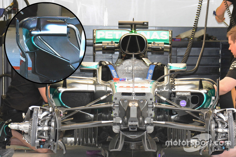 Mercedes AMG F1 Team W07, Seitenkasten-Detail
