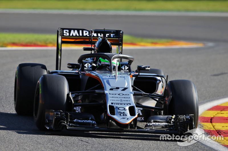 Nico Hulkenberg, Sahara Force India F1 VJM09 Halo kokpit ile