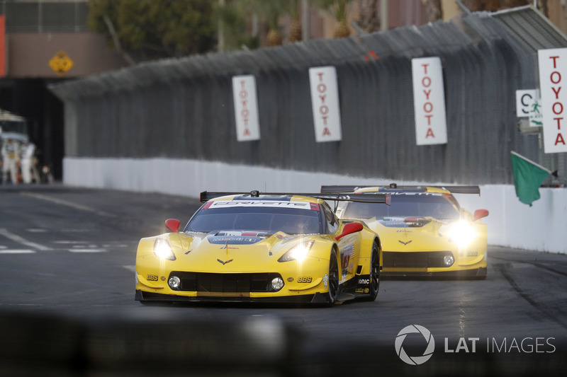 Oliver Gavin and Tommy Milner scored the C7.R's final win at Long Beach in 2018.