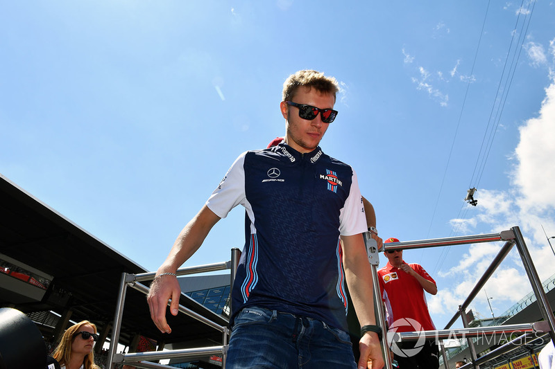 Sergey Sirotkin, Williams lors de la parade des pilotes