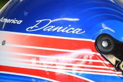 Helmet of Danica Patrick, Stewart-Haas Racing Ford