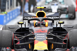 Max Verstappen, Red Bull Racing RB14 arrives in parc ferme