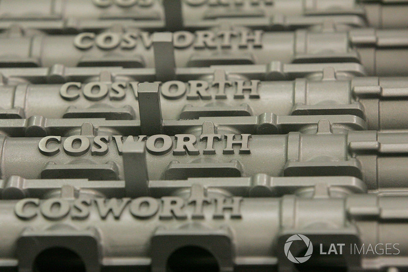 Cosworth engine parts at the Cosworth Factory in Northampton