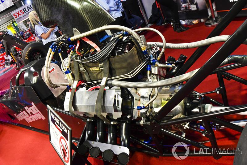 Dragster engine detail