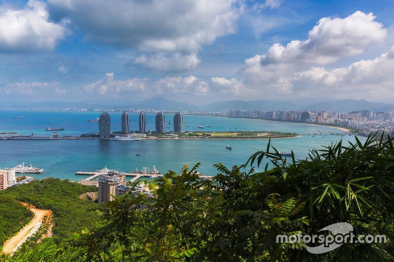 Fotografia aerea della città di Sanya