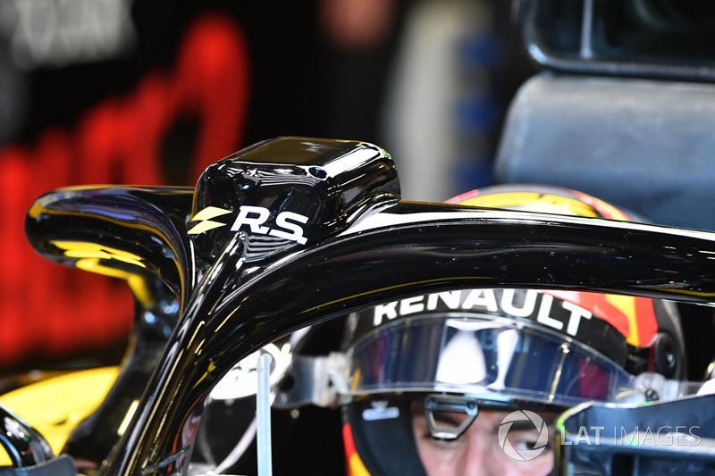 Carlos Sainz Jr., Renault Sport F1 Team R.S. 18, dettaglio dell'halo
