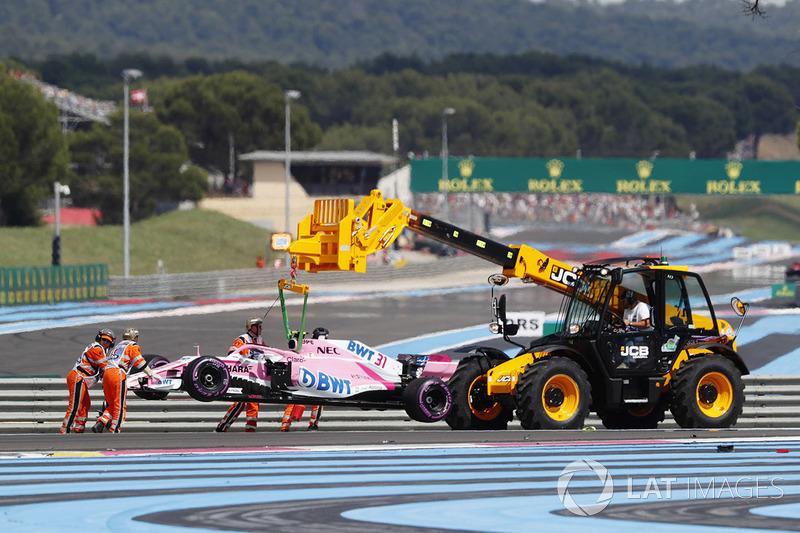Esteban Ocon's Force India VJM11