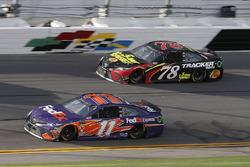 Denny Hamlin, Joe Gibbs Racing Toyota Martin Truex Jr., Furniture Row Racing Toyota