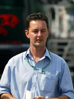 Piers Hunnisett, Manager of F1 Rookie Nicolas Kiesa, Minardi