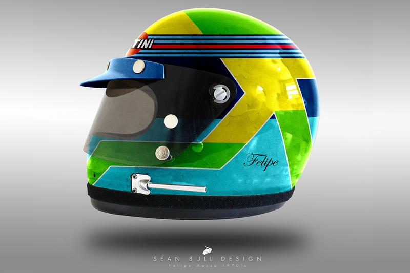 Casco concepto 1970 de Felipe Massa