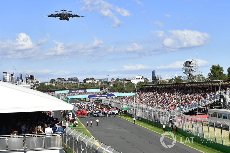 Grid and fly past