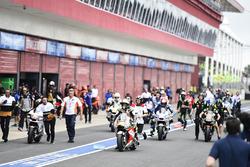Cal Crutchlow, Team LCR Honda, lors du départ avorté