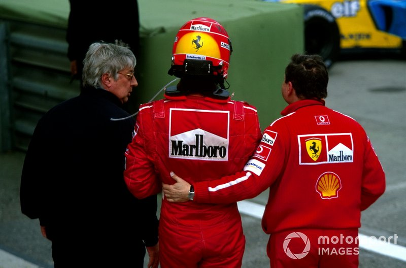 Herbie Blash, with race winner Michael Schumacher, Ferrari and Jean Todt, Ferrari Sporting Director