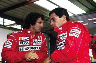 Alain Prost, McLaren; Ayrton Senna, McLaren