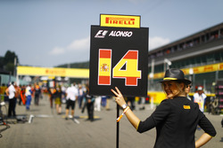 Grid Girl for Fernando Alonso, McLaren