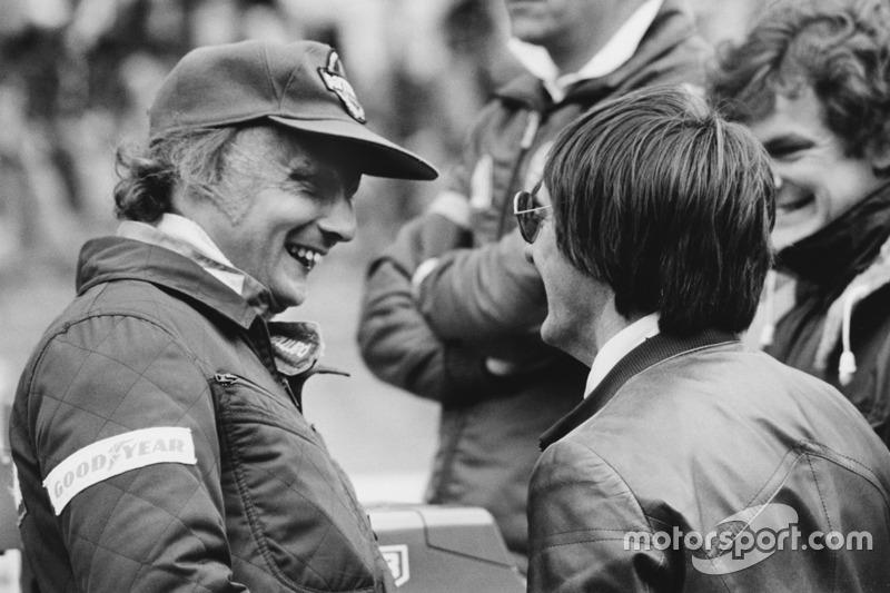 Niki Lauda, Brabham BT46-Alfa Romeo; Bernie Ecclestone, Brabham, Teambesitzer