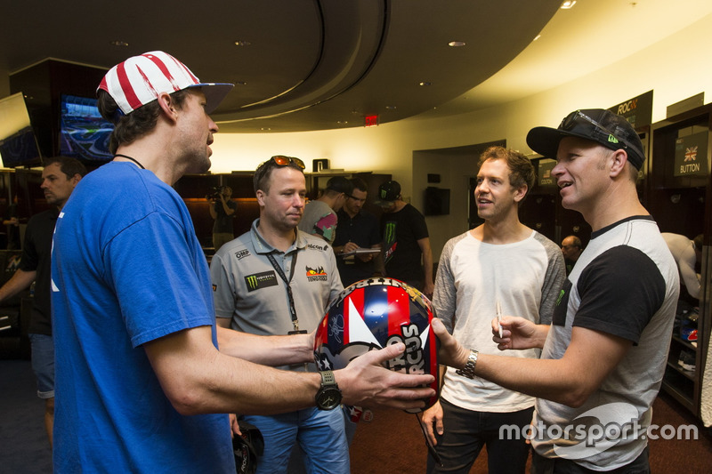 Travis Pastrana, Sebastian Vettel y Petter Solberg