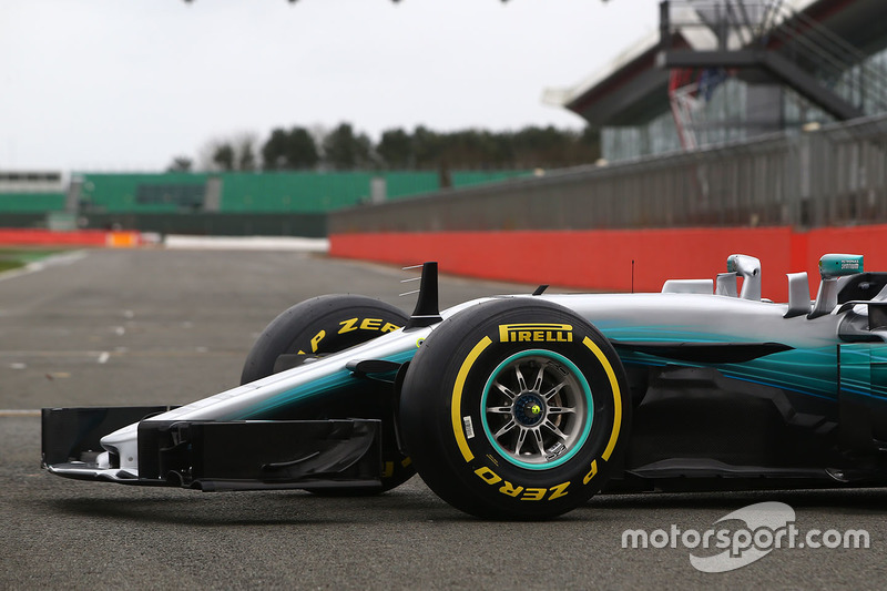 Mercedes AMG F1 W08, передняя часть машины