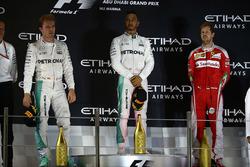 Podium: race winner Lewis Hamilton, Mercedes AMG F1, second place Nico Rosberg, Mercedes AMG F1 , third place Sebastian Vettel, Ferrari