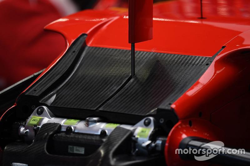 Детали передней части Ferrari SF70H