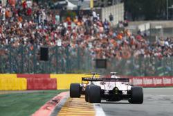 Fernando Alonso, McLaren MCL32, Sergio Perez, Sahara Force India F1 VJM1