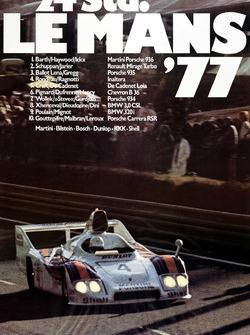 Poster: Porsche-Sieg bei den 24h Le Mans 1977