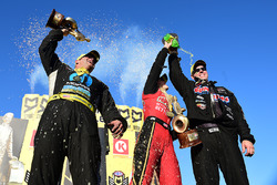 Top Fuel winner Leah Pritchett, Funny Car winner Matt Hagan, Pro Stock winner Jason Line