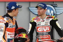 Ganador de la pole Marc Márquez, Repsol Honda Team, y el tercer puesto Cal Crutchlow, Team LCR Honda
