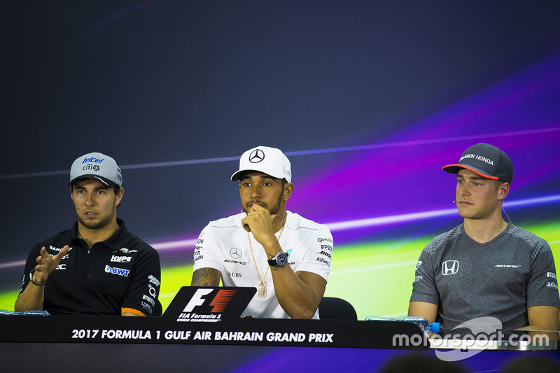 Серхіо Перес, Force India, Льюіс Хемілтон, Mercedes AMG, Стоффель Вандорн, McLaren, на прес-конференції
