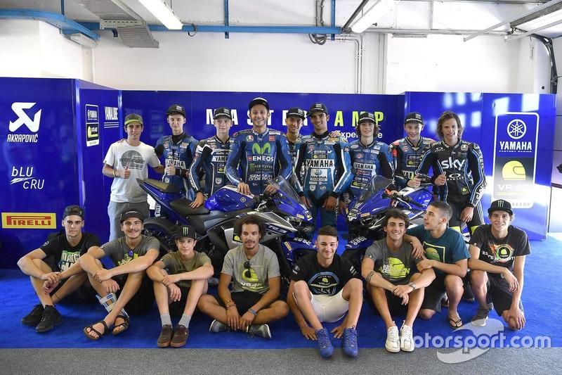 Валентино Россі, Movistar Yamaha MotoGP, студенти  VR46 Riders Academy та учасники четвертого Yamaha VR46 Master Camp