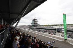 Takuma Sato, Andretti Autosport Honda Alexander Rossi, Herta - Andretti Autosport Honda restart