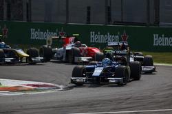 Marvin Kirchhofer, Carlin leads Gustav Malja, Rapax and Daniel de Jong, MP Motorsport