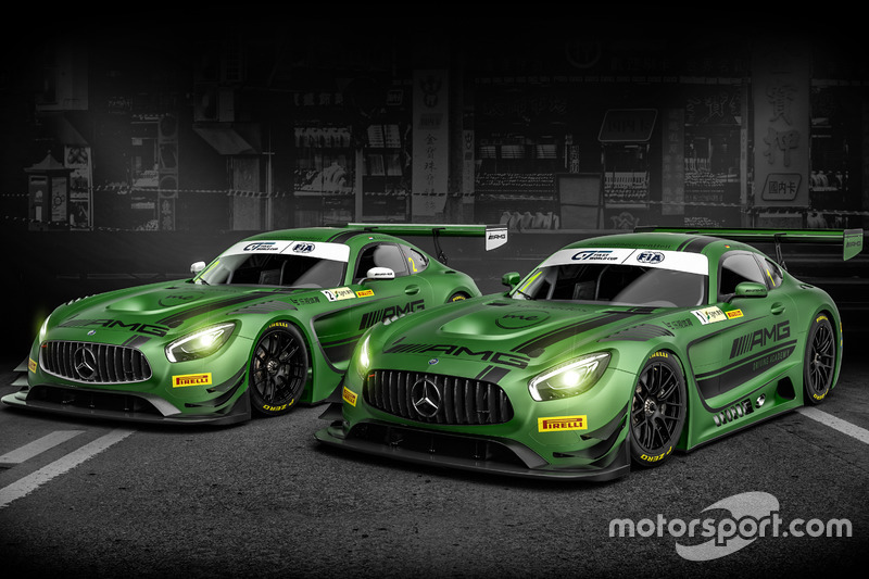 De Mercedes-AMG's van Renger Van der Zande en Maro Engel voor Macau, Mercedes-AMG Driving Academy