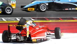 Crash: Yannik Brandt, Lechner Racing