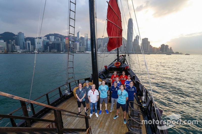 Bootstour der Formel-E-Fahrer vor Hongkong