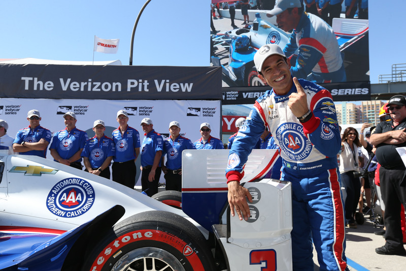 Helio Castroneves, Team Penske Chevrolet pole winner